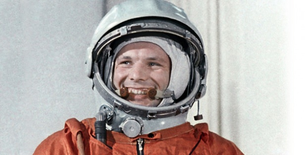 April 1961: Yuri Gagarin makes first manned space flight