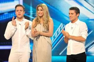 Olly Murs, Joe McElderry posing for the camera: Olly appeared on the show as a contestant with Stacey Solomon and Joe Mcelderry in 2009