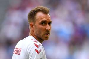 Soccer Football - World Cup - Group C - Denmark vs Australia - Samara Arena, Samara, Russia - June 21, 2018   Denmark's Christian Eriksen during the match