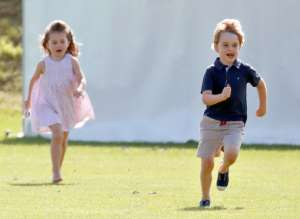 GLOUCESTER, UNITED KINGDOM - JUNE 10: (EMBARGOED FOR PUBLICATION IN UK NEWSPAPERS UNTIL 24 HOURS AFTER CREATE DATE AND TIME) Prince George of Cambridge and Princess Charlotte of Cambridge attend the Maserati Royal Charity Polo Trophy at the Beaufort Polo Club on June 10, 2018 in Gloucester, England. (Photo by Max Mumby/Indigo/)