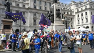 Crowds gather at Pall Mall