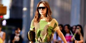 Victoria Beckham made a cast for the return of the print while out yesterda: Has camouflage finally become cool again?