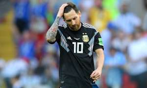 Argentina's Lionel Messi was top of the World Cup dribble charts after one game but bottom for distance covered.