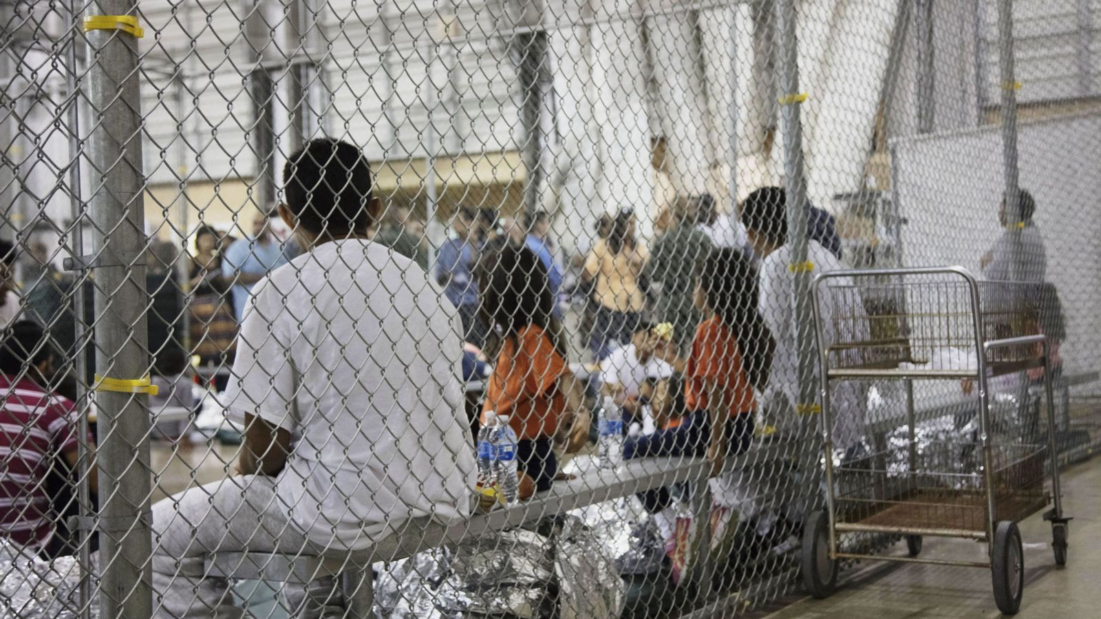 Mother allowed to keep the baby she shook so hard she caused  brain damage. Skynews-us-border-control-cages_4339085