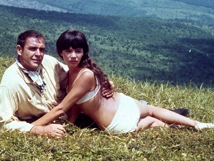 Sean Connery and Mie Hama in You Only Live Twice, 1967
