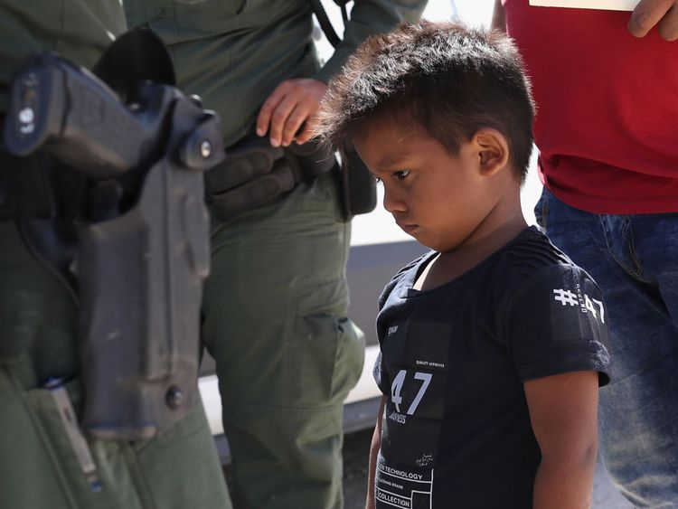 A boy from Honduras is taken into custody