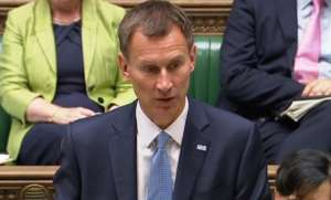 Health Secretary Jeremy Hunt issues a statement on Gosport Hospital in the House of Commons, London.