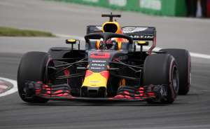 Red Bull's Daniel Ricciardo in action during the race
