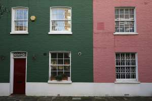 Houses are seen in London
