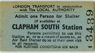Ticket allowing entrance to the tunnels in WWII