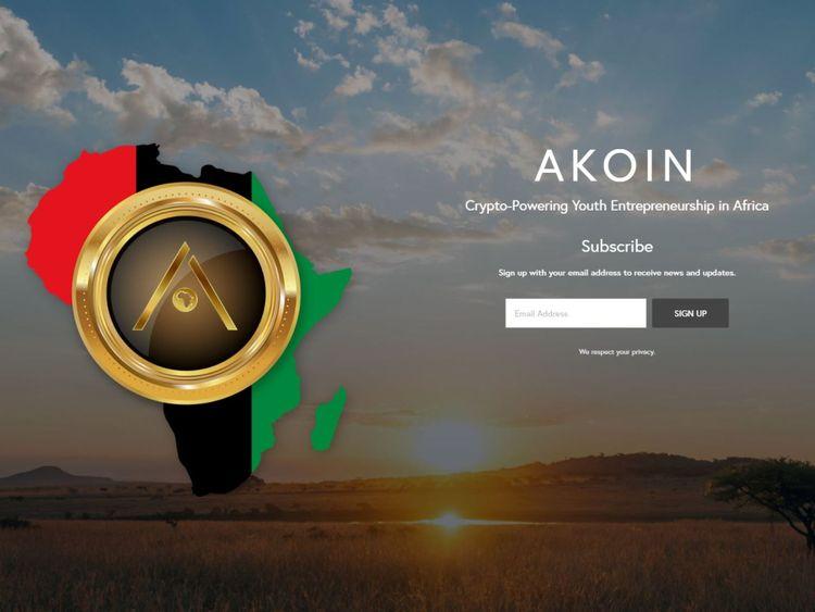 AKoin already has an official website