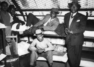 underground bunk beds with Windrush passengers