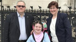 Becky Tyler, with mother Fiona and father Steve