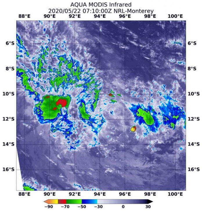 Study: NASA examines tropical storm Mangga in infrared light