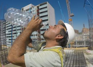 Study: Working in the sun -- heating of the head may markedly affect safety and performance