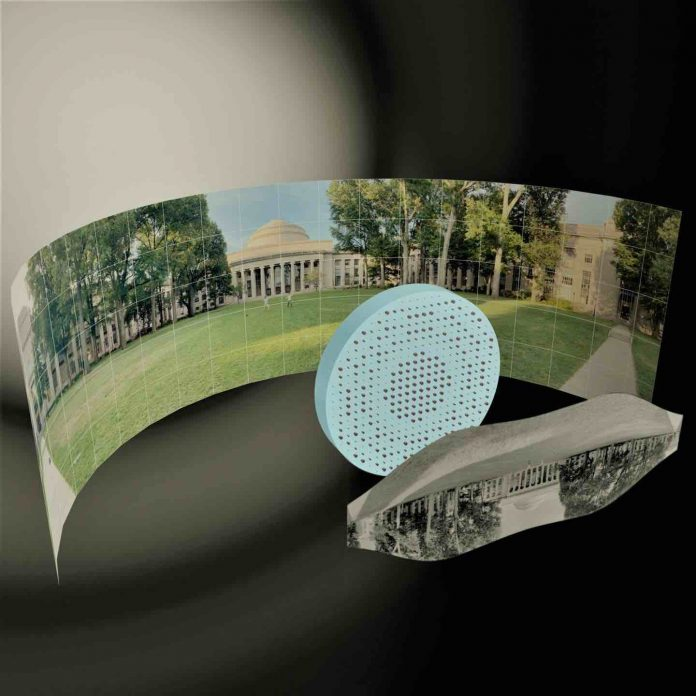 Researchers produce a fisheye lens that's completely flat